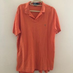 Polo by Ralph Lauren Orange SS XL Custom Fit C61